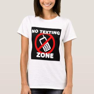Camiseta Nenhuma zona de Texting