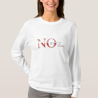 Camiseta Nenhuma zona do fato - T Longo-Sleeved Zoner