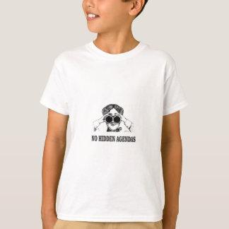 Camiseta nenhumas agendas escondidas