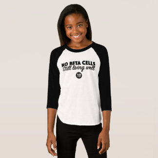 Camiseta Nenhumas beta pilhas (menina)