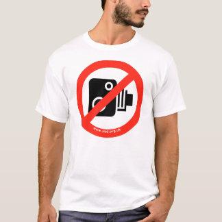 Camiseta Nenhumas câmeras da velocidade