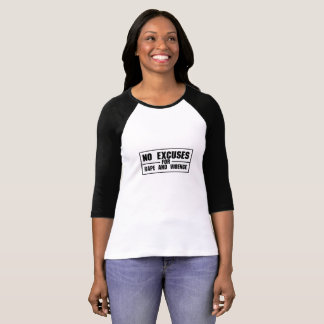 Camiseta Nenhumas desculpas para a violação e a feminista