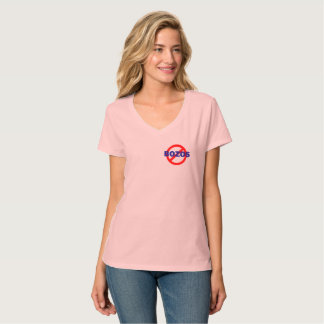 Camiseta NENHUNS BOZOS - o v-pescoço da mulher - offset