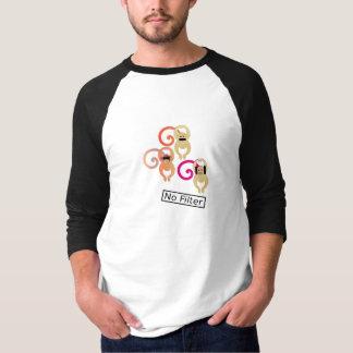 Camiseta Nenhuns macacos do filtro