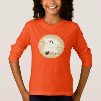 Camiseta Néon bonito polar da laranja do abraço do inverno