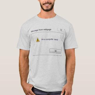 Camiseta nerd do computador