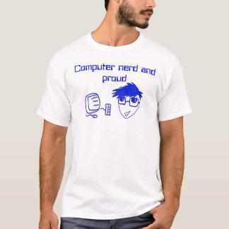 Camiseta Nerd do computador e parte superior orgulhosa