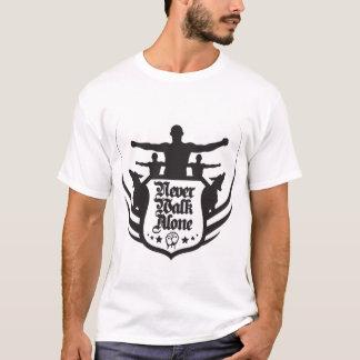 Camiseta neverwalkalone2