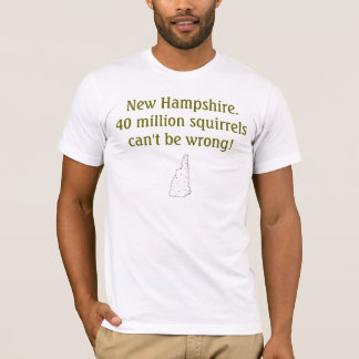 Camiseta New Hampshire. 40 milhão esquilos não podem ser