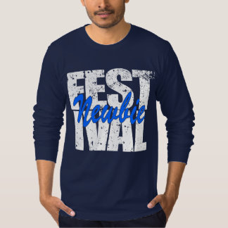 Camiseta Newbie do festival (branco)