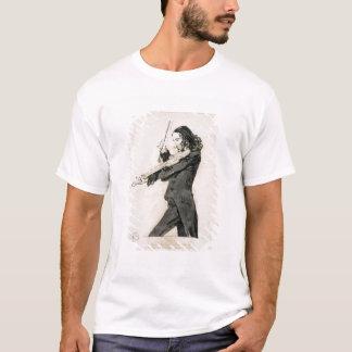 Camiseta Niccolo Paganini (1782-1840) que joga o violino, 1