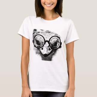 Camiseta Nicolaus a avestruz no gráfico preto & branco