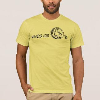 Camiseta nines ou moedas de dez centavos