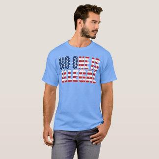 """Camiseta """"Ninguém é"""" obscuridade ilegal"""