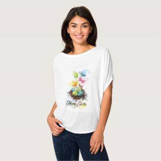 Camiseta Ninho & borboletas dos ovos da páscoa do respingo