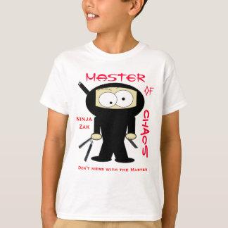 Camiseta Ninja Zak, não suja com o mestre