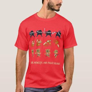 Camiseta Ninjas, macacos, e ursos do pirata