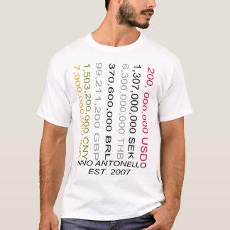 Camiseta Nino Antonello Est. 2007 dois cem milhão Dolla
