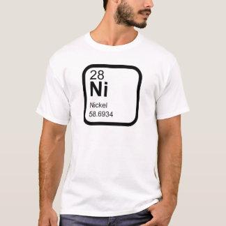 Camiseta Níquel - design da ciência da mesa periódica