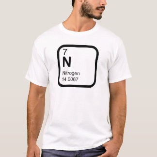 Camiseta Nitrogênio - mesa periódica