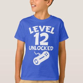 Camiseta Nível 12 destravado aniversário do video games 12o
