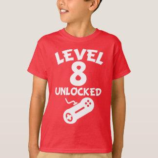 Camiseta Nível 8 destravado aniversário do video games 8o