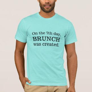 Camiseta No 7o dia, refeição matinal