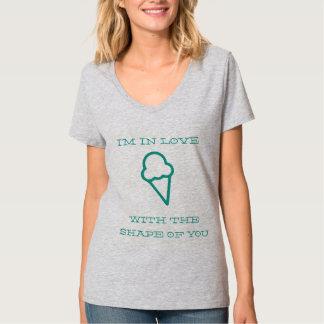 Camiseta No amor com a forma de você - sorvete