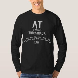 Camiseta No Através-Caminhante fuga apalaches caminhada