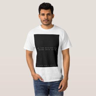 Camiseta No começo (branco)