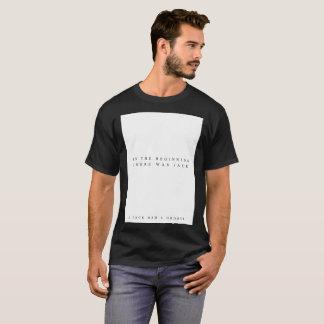 Camiseta No começo (preto)