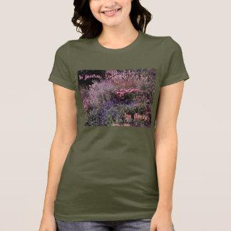Camiseta No jardim