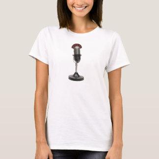 Camiseta No microfone do vintage do AR