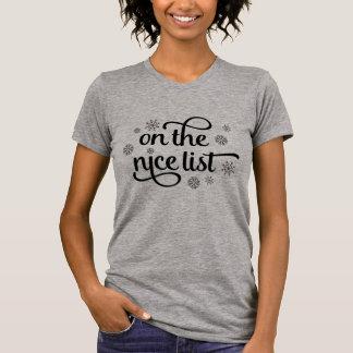 Camiseta No Natal agradável da lista |