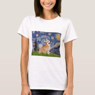 Camiseta Noite estrelado - Corgi 7b de Galês do Pembroke