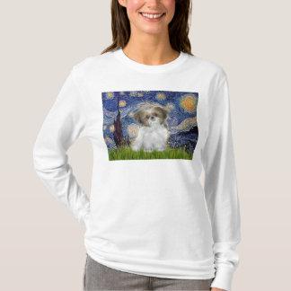 Camiseta Noite estrelado - filhote de cachorro de Shih Tzu