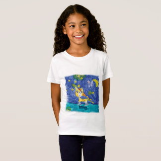 Camiseta Noite estrelado Pegasus da aguarela com bastão