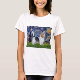 Camiseta Noite estrelado - pequeno Basset (PBGV)