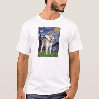 Camiseta Noite estrelado - Shiba Inu