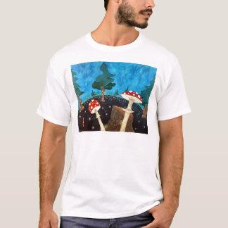 Camiseta noite trippy nas madeiras
