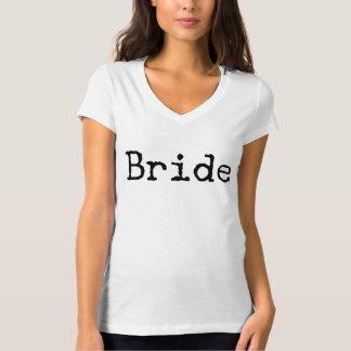 Camiseta noiva antiquado da máquina de escrever nupcial