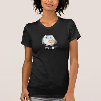Camiseta Noiva da coruja - design do divertimento com texto