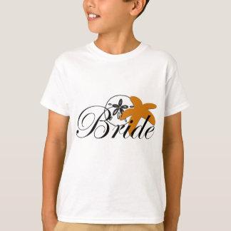 Camiseta Noiva da estrela do mar do dólar de areia