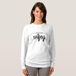 Camiseta Noiva futura de Wifey a realizar-se com data do