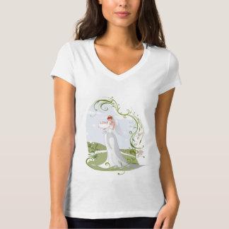 Camiseta Noiva romântica na natureza
