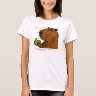 """Camiseta """"Nom."""" O T da mulher colorida do Capybara"""