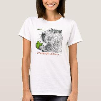 """Camiseta """"Nom."""" O T da mulher do Capybara"""