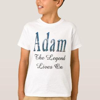 Camiseta Nome azul de Adam o logotipo da legenda,