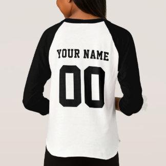 Camiseta Nome da equipe de esportes com nome e número