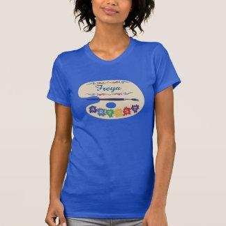 Camiseta Nome do costume da paleta dos pintores